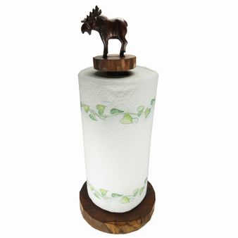 Moose Paper Towel Holder - Ironwood Carving  |  EarthView