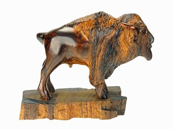 Buffalo with detail - Ironwood Carving  |  EarthView