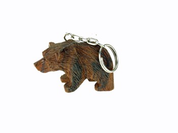 Bear 3-D Keychain - Ironwood Carving  |  EarthView