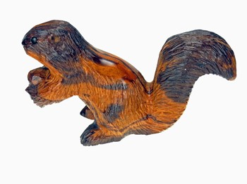 Squirrel with detail - Ironwood Carving  |  EarthView