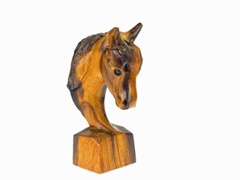 Horse Head - Ironwood Carving  |  EarthView