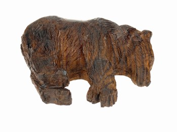 Bear sleeping - Ironwood Carving  |  EarthView