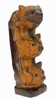 Bear Totem - Ironwood Carving  |  EarthView