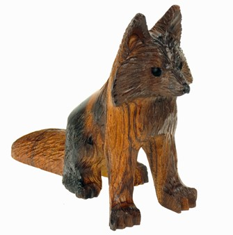 Fox - Ironwood Carving  |  EarthView