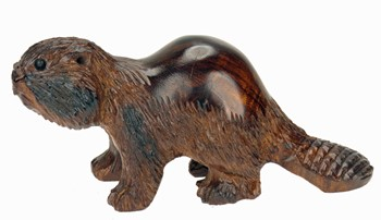 Beaver - Ironwood Carving  |  EarthView