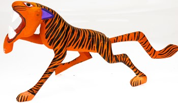 Tiger - Oaxacan Wood Carving  |  EarthView