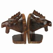 View Moose Head Bookends