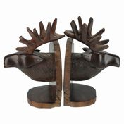View Elk Head Bookends