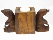 View Bears Sitting Candleholder