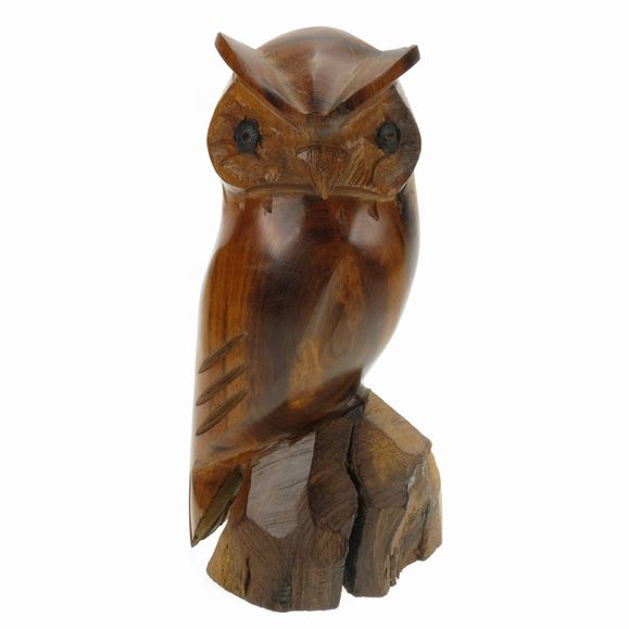 Owl Ironwood Carving Earthview
