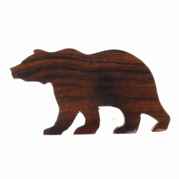 Bear Silhouette Magnet Ironwood Carving Earthview