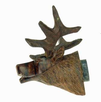 Elk Head 3-D Magnet - Ironwood Carving  |  EarthView