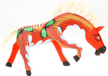 Horse - Oaxacan Wood Carving  |  EarthView