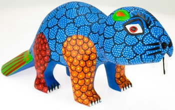 Beaver - Oaxacan Wood Carving  |  EarthView