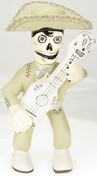 View Skeleton Mariachi with guitar