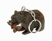 View Grizzly with fish 3-D Keychain