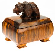 View Grizzly Bear with fish Box